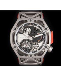 Hublot Unworn Ferrari Limited Edition Titanium Tourbillon Chronograph B&P 408.NI.0123.RX