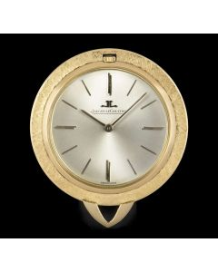 Jaeger LeCoultre Pendant Pocket Watch Vintage 18k Yellow Gold Silver Dial