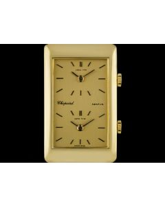 Chopard 18k Yellow Gold Champagne Dial Dual Time Zone Men's 2087