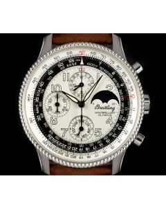 Breitling Montbrillant Olympus Chronograph Stainless Steel Silver Arabic Dial A19350