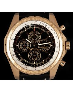Breitling For Bentley Mulliner Perpetual Calendar Chronograph 18k Rose Gold Limited Edition Gents Black Dial H29362