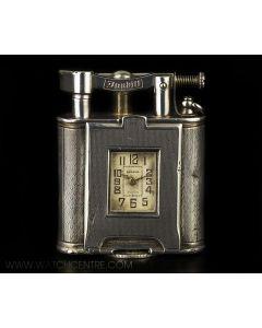 Dunhill Silver Art Deco Swing Arm Petrol Pocket Watch Lighter C1930s