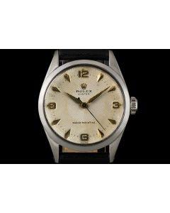 Rolex Stainless Steel Rare Cream Quadrante Dial Oyster Shock Resisting Vintage Men's 6444