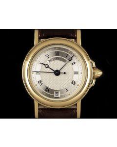 Breguet Horologer De La Marine Ladies 18k Yellow Gold Silver Dial 3400