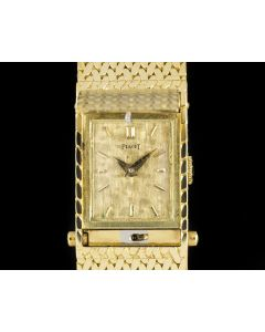 Piaget Concealed Case Women's Dress Watch 18k Yellow Gold Champagne Dial 5340