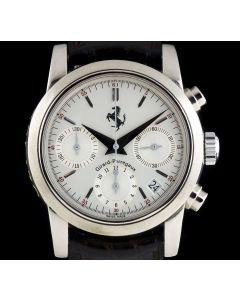 Girard Perregaux Ferrari Chronograph Gents 18k White Gold Silver Dial 8020