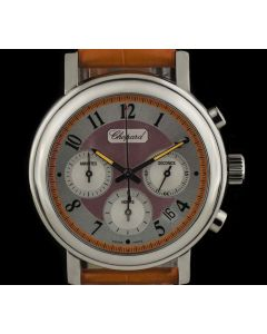 Chopard Stainless Steel Coral Mother Of Pearl Dial Mille Miglia Elton John Ltd Ed B&P 168331-3009