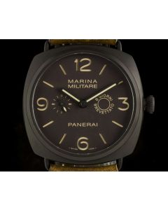 Panerai Limited Edition Radiomir Marina Militare Composite Brown Dial B&P PAM00339