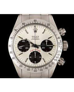 Rolex Rare Big Red Cosmograph Daytona Vintage Men's Stainless Steel Silver Dial 6265