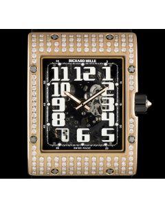 Richard Mille 18k Rose Gold Diamond Set Skeleton Dial Ultra Flat Auto RM016 AH RG