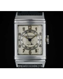 Jaeger LeCoultre Stainless Steel Very Rare Double Name Staybrite Reverso Gents