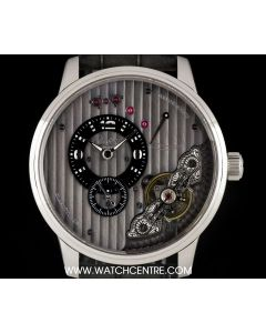 Glashutte Stainless Steel Grey Dial PanoInverse Gents Wristwatch B&P 66-04-04-02-05