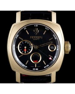 Panerai 18k Rose Gold Black Dial 8 Days GMT Ferrari Ltd Ed B&P FER00007