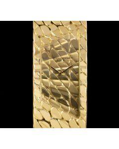 Vacheron Constantin Asymmetric Aton Vintage Women's 18k Yellow Gold Champagne Dial