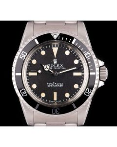 Rolex Very Rare Vintage Comex Submariner Men's Stainless Steel Matte Black Dial 5514