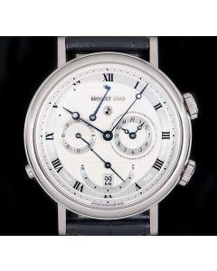 Breuget Alarm Le Reveil Du Tsar Gents 18k White Gold Silver Guilloche Dial 5707BB/12/9V6