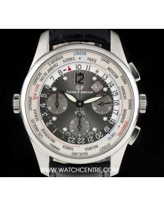 Girard Perregaux Stainless Steel Anthracite Dial FTC World Time Chronograph Limited Edition B&P 49805