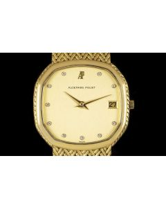 Audemars Piguet Women's Yellow Gold Diamond Dial Dress Watch