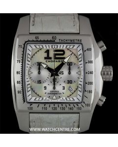 Chopard Stainless Steel Mother of Pearl Dial Two O Ten Chrono Gents B&P 16/8961