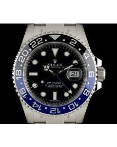 Rolex Unworn GMT-Master II Batman Stainless Steel B&P 116710BLNR