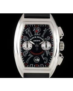 Franck Muller Chronograph Gents Stainless Steel Black Dial Conquistador 8002 CC
