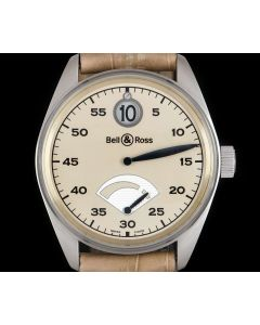 Bell & Ross Limited Edition 123 Jumping Hour Gents Platinum Cream Dial B&P 123JH
