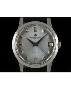 Vacheron Constantin 18k White Gold Diamond Dial Vintage Men's Watch 6378Q