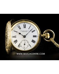 West End Watch & Co. 18k Yellow Gold Fully Engraved Full Hunter Pocket Watch