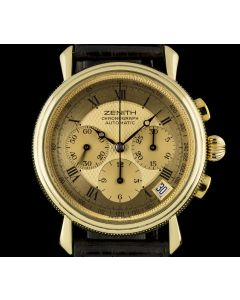 Zenith 18k Yellow Gold Champagne Dial Automatic Chronograph Gents