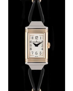 Jaeger LeCoultre Reverso One Cordonnet Ladies Stainless Steel & 18k Rose Gold Silver Dial Q3264520