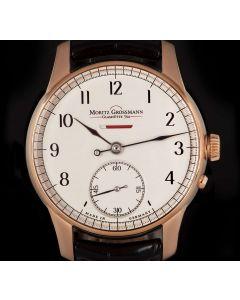 Moritz Grossmann Unworn Benu Power Reserve Gents 18k Rose Gold Silver Dial B&P MG01.C-01-A000042