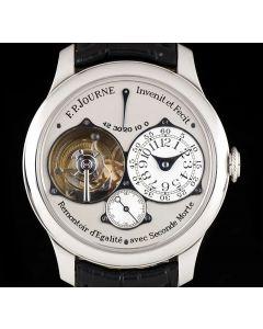 F.P. Journe Tourbillon Souveraine Dead Beat Seconds Platinum Silver Dial Gents Wristwatch