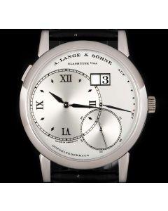 A.Lange & Sohne Grand Lange 1 Gents Platinum Silver Dial B&P 115.026