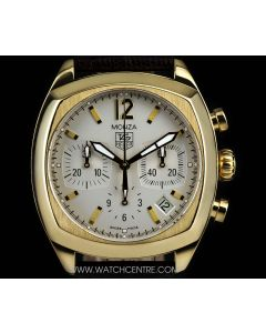 Tag Heuer 18k Yellow Gold Silver Dial Classic Monza B&P CR514A.FC8145