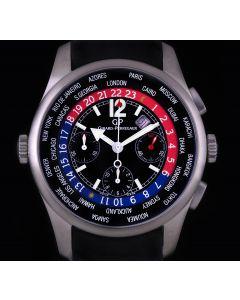 Girard Perregaux Titanium Black Dial World Time Chrono 49805-21-651-FK6A