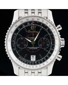 Breitling Montbrillant Edition Gents Stainless Steel Black Dial A48330