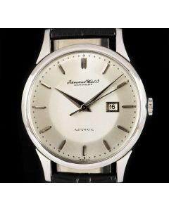 IWC Vintage Men's Dress Watch Platinum Silver Dial