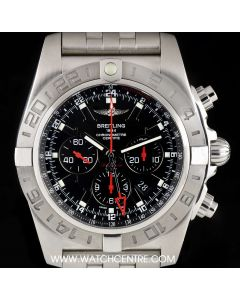 Breitling Stainless Steel Black Dial Chronomat GMT Limited Edition Gents B&P AB041210/BB48 383A