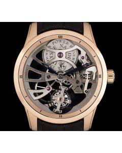 Ulysse Nardin Tourbillon Limited Edition Gents 18k Rose Gold Skeleton Dial B&P 1702-129