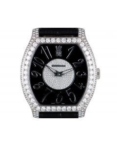 Chopard Limited Edition The Princes Foundation Women's 18k White Gold Black Dial Diamond Set 17/3508