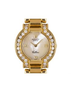 Rolex Cellini Yellow Gold Mother of Pearl Dial Diamond Bezel 2253
