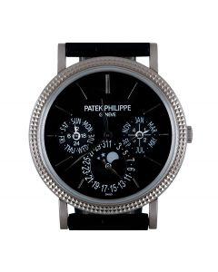 Patek Philippe Grand Complications Perpetual Calendar Men's 18k White Gold Black Lacquered Dial B&P 5139G-010