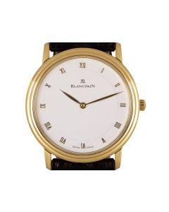 Blancpain Villeret Men's 18k Yellow Gold White Dial 0071-1418-55