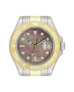 Rolex Yacht-Master Men's Stainless Steel & 18k Yellow Gold Black Mother of Pearl Dial 16623