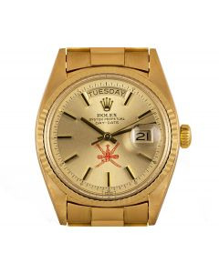 Rolex Very Rare Day-Date Vintage Men's 18k Yellow Gold Champagne Omani Dial 1803