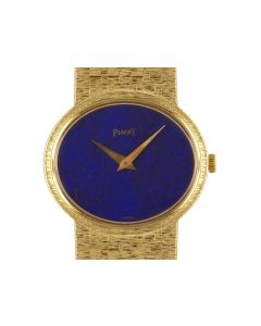 Piaget Dress Watch Women's 18k Yellow Gold Lapis Lazuli Dial 9801 A6