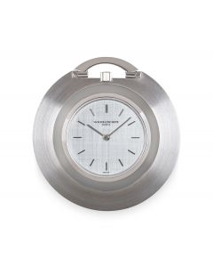 Vacheron Constantin Dress Pocket Watch Ultra Thin Vintage Men's 18k White Gold Silver Dial 6345