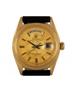 Rolex Day-Date Vintage Men's 18k Yellow Gold Champagne Dial 6611B