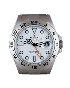 Rolex Explorer II Stainless Steel White Dial B&P 216570