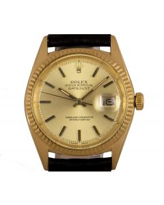 Rolex Datejust Men's Yellow Gold 1601